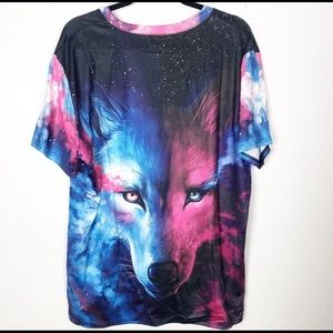 Other - NWT - Galaxy Shirt w/ Wolf Design - Size Large